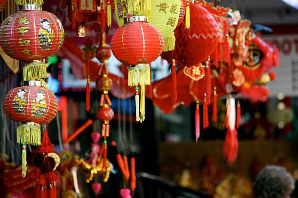 chinatown market store - chinatown stockfoto's en -beelden