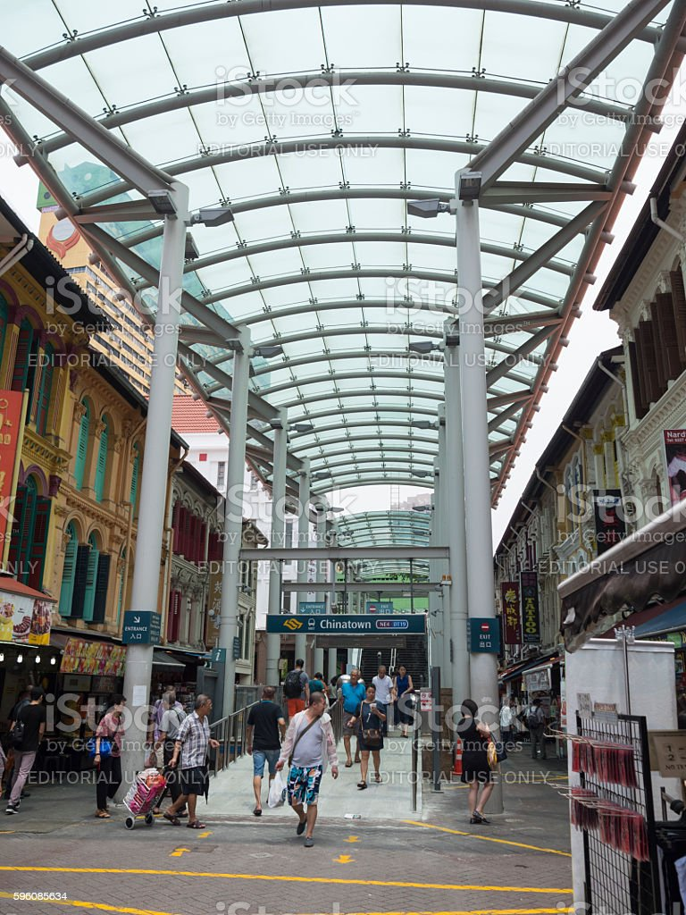 Chinatown MRT Train Station, Singapore Lizenzfreies stock-foto