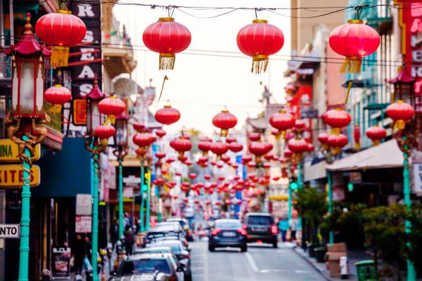 chinatown - san francisco - san francisco californië stockfoto's en -beelden