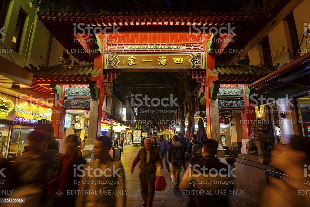 Chinatown Sydney stock photo