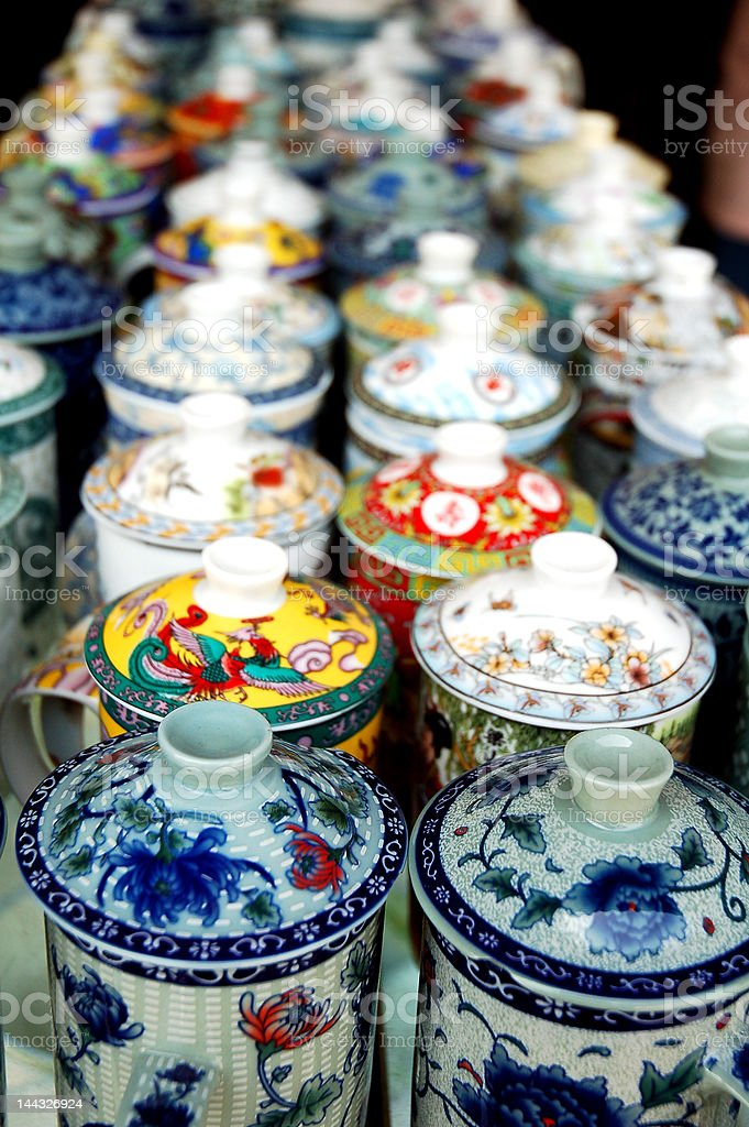 chinaware tea cups royalty-free stock photo