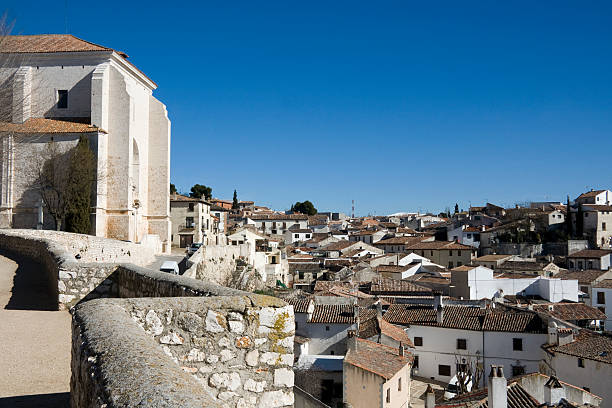Chinchon - View from the church de la Asuncion stock photo