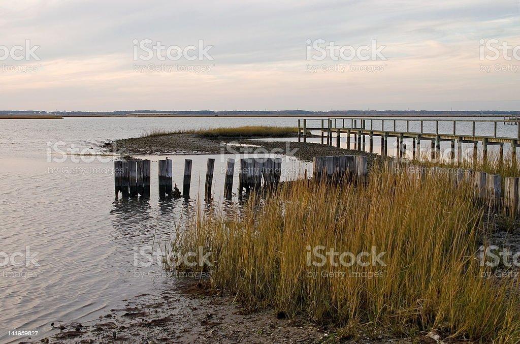 Chincoteague Waterway stock photo