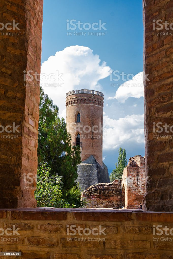 Chindiei tower in Targoviste Romania stock photo