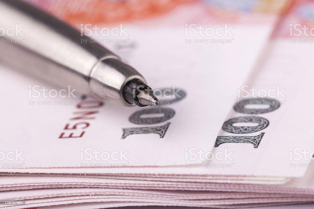 chinese 100 yuan RMB royalty-free stock photo