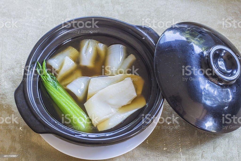 Chinese abalone mushrooms royalty-free stock photo