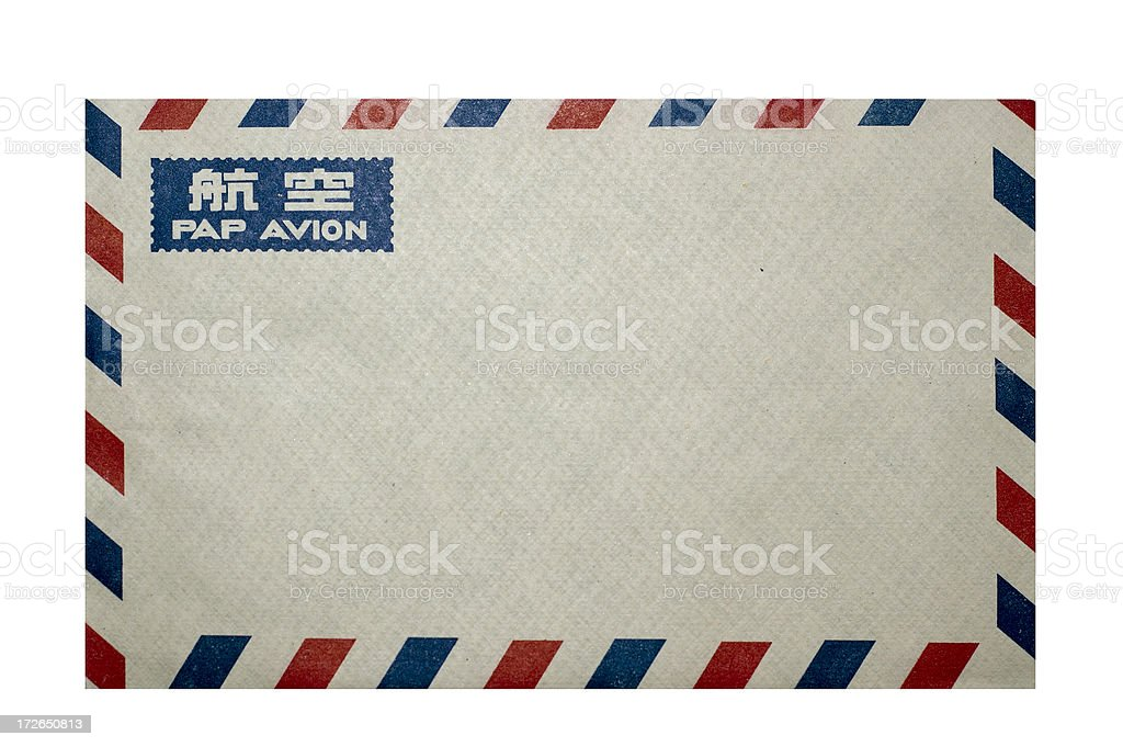 Chinese air mail envelope royalty-free stock photo