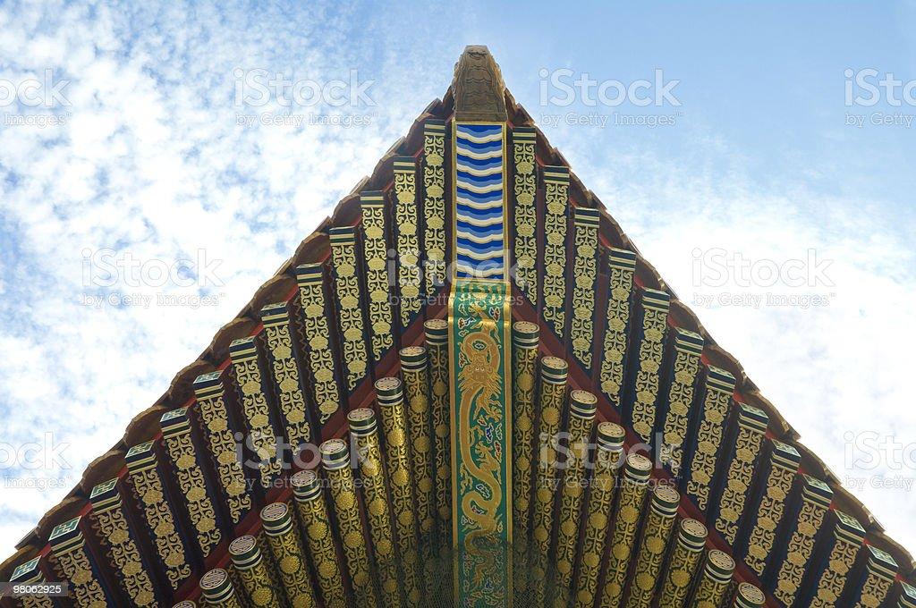 중국 앤시언트 건축양상 royalty-free 스톡 사진