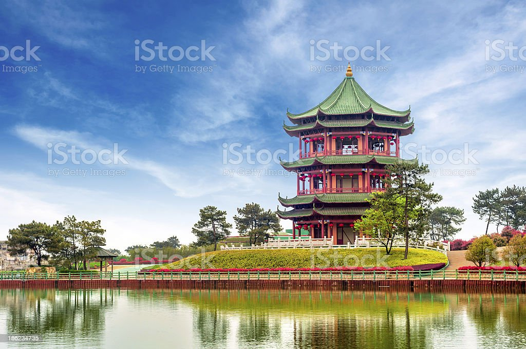Chinese ancient buildings: garden. royalty-free stock photo