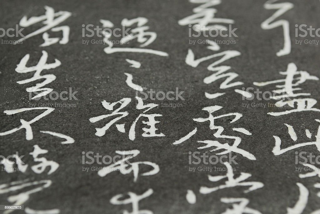 Chinese calligraphy copybook antigua foto de stock libre de derechos
