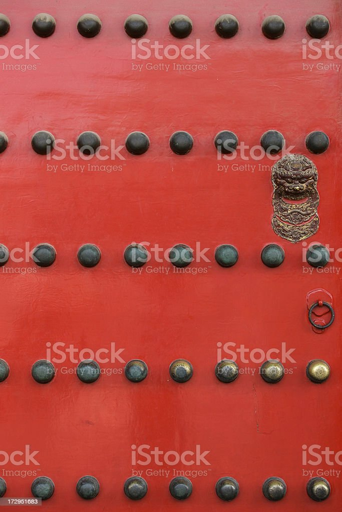 Chinese ancient door royalty-free stock photo
