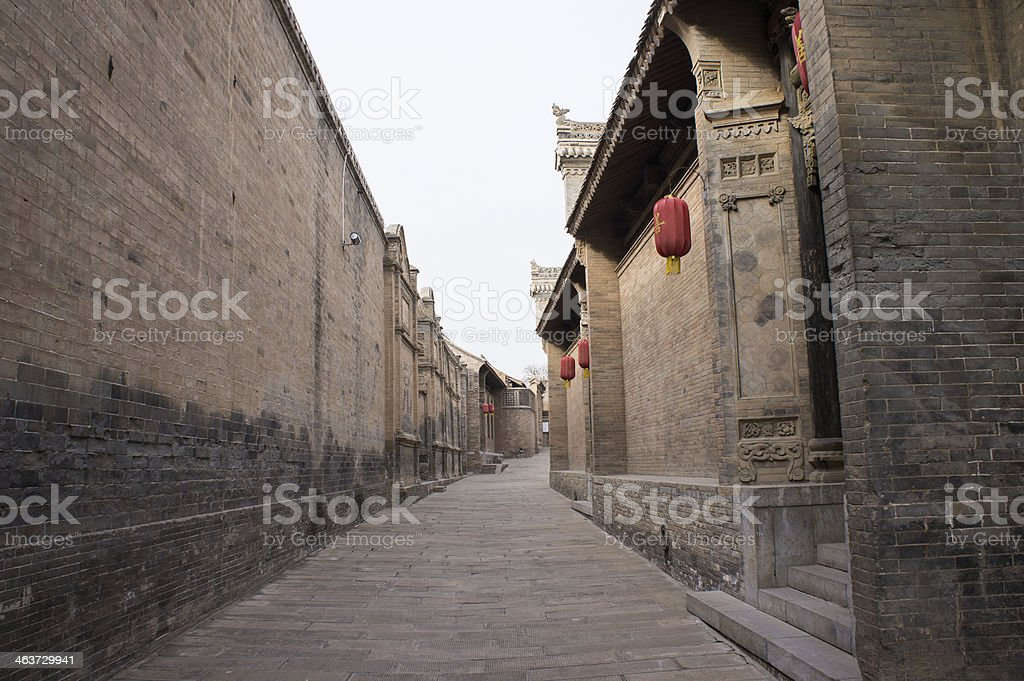 Chinese ancient house building stock photo