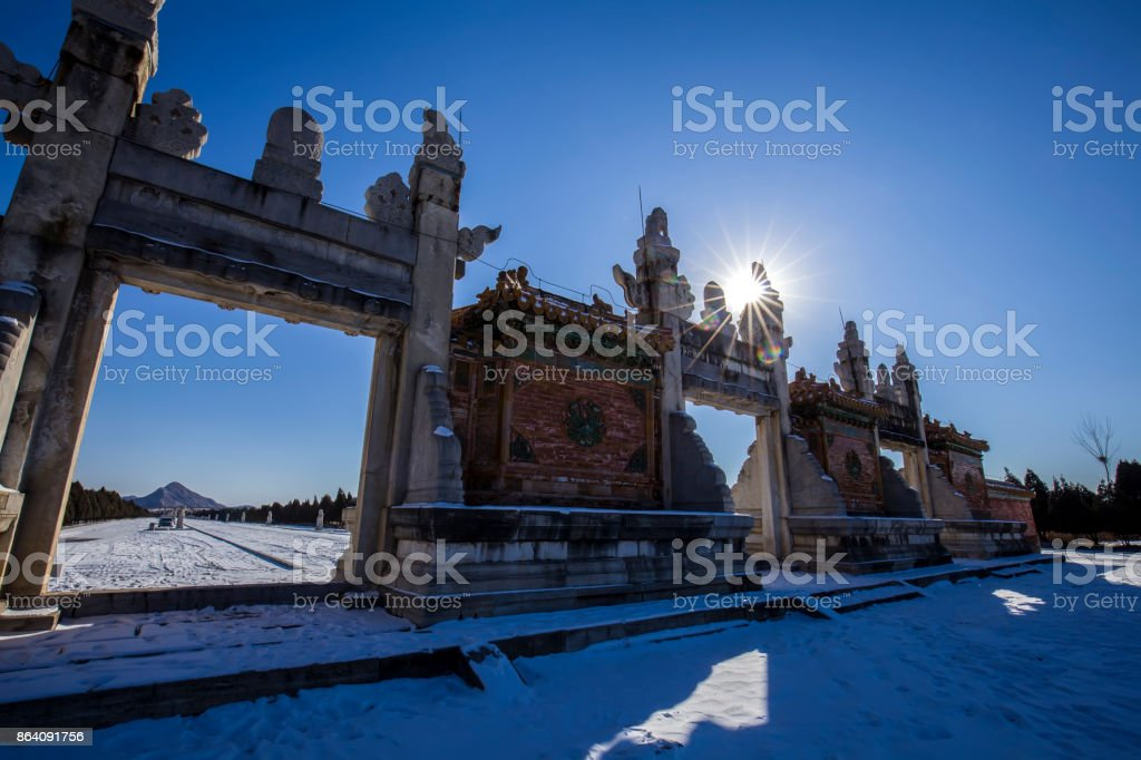 Chinese ancient stone arch royalty-free stock photo