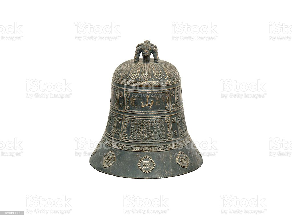 Chinese antique bronze bell royalty-free stock photo