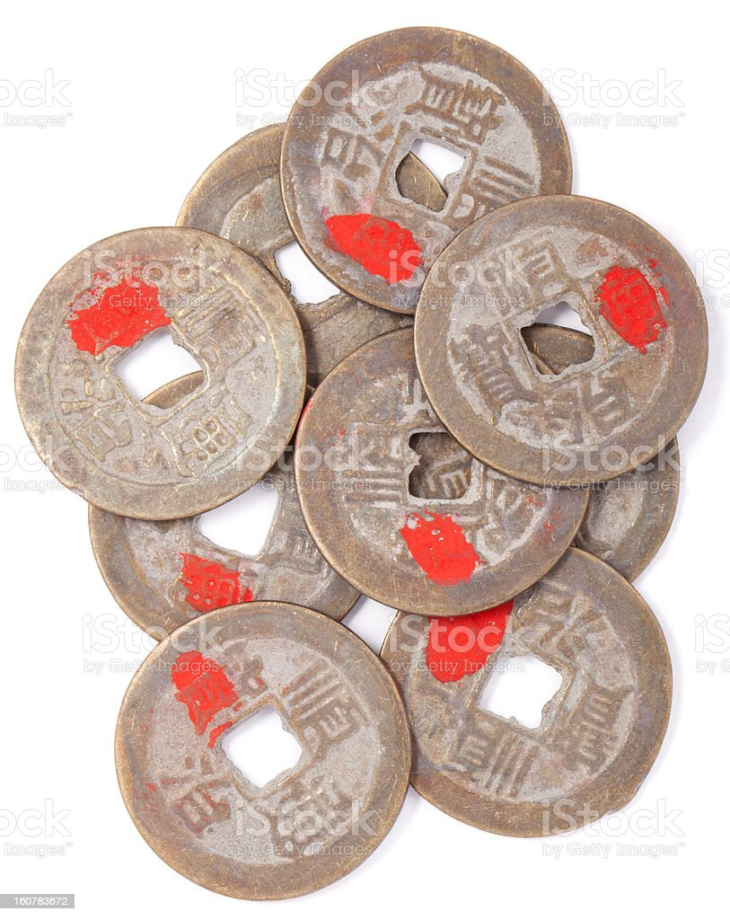 Chinese antique coins royalty-free stock photo