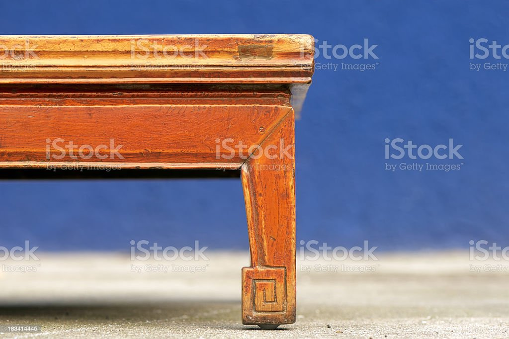 Chinese antique table royalty-free stock photo