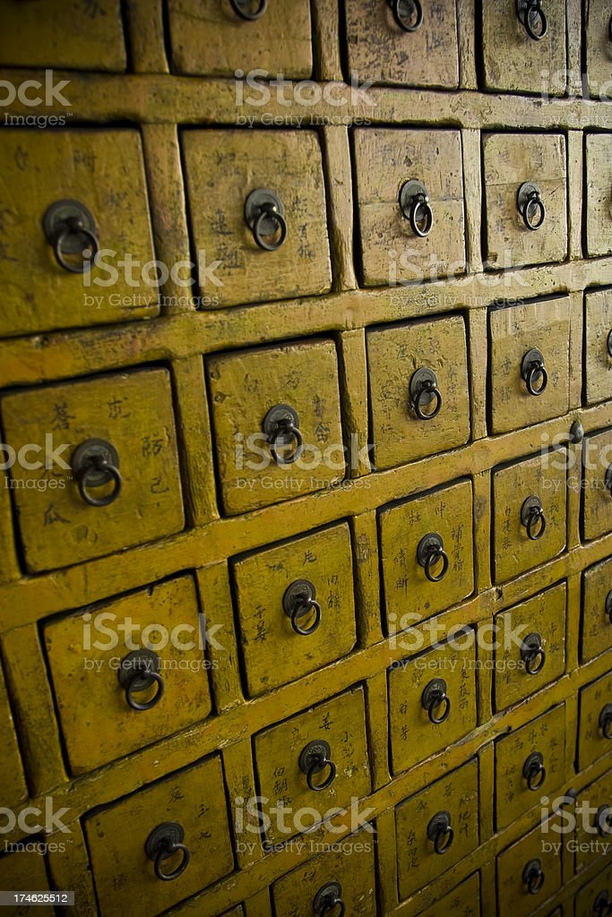 Chinese Apothecary royalty-free stock photo