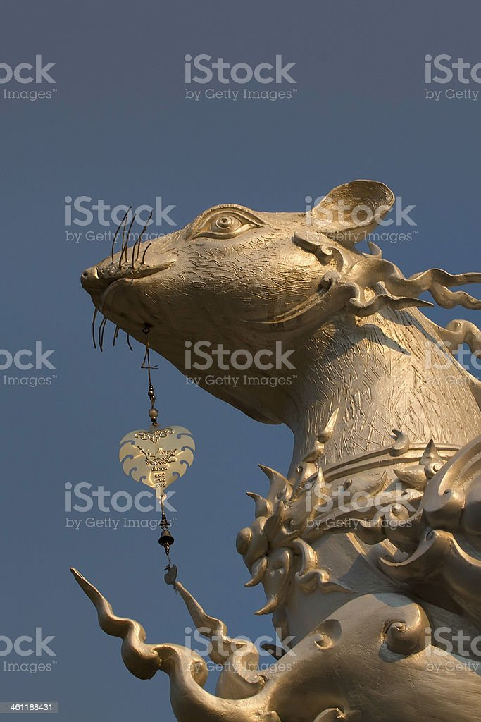 Chinese Astrological Rat stock photo