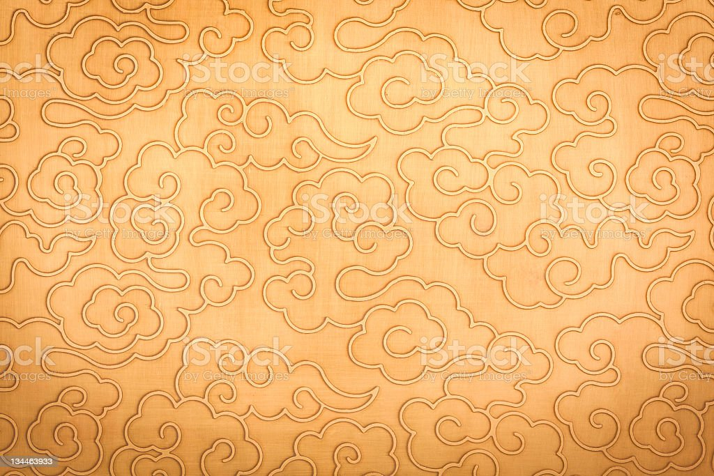 Chinese auspicious clouds pattern royalty-free stock photo