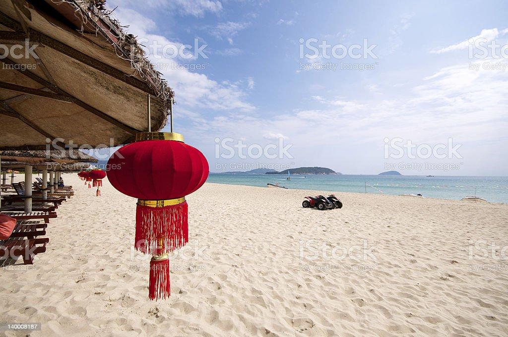 Chinese beach vacation stock photo