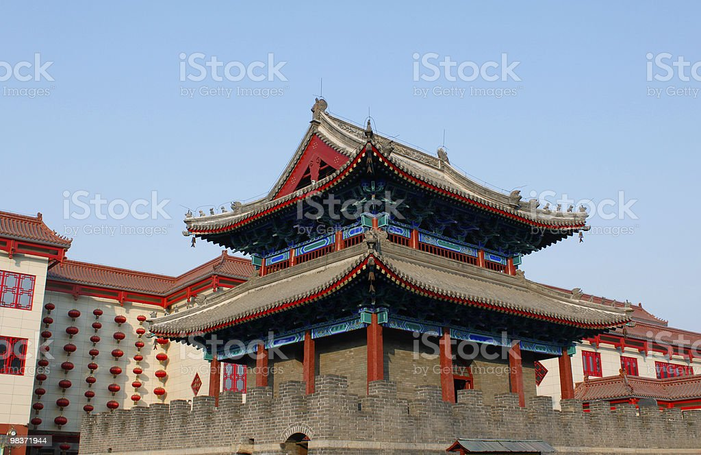 chinese belfry royalty-free stock photo
