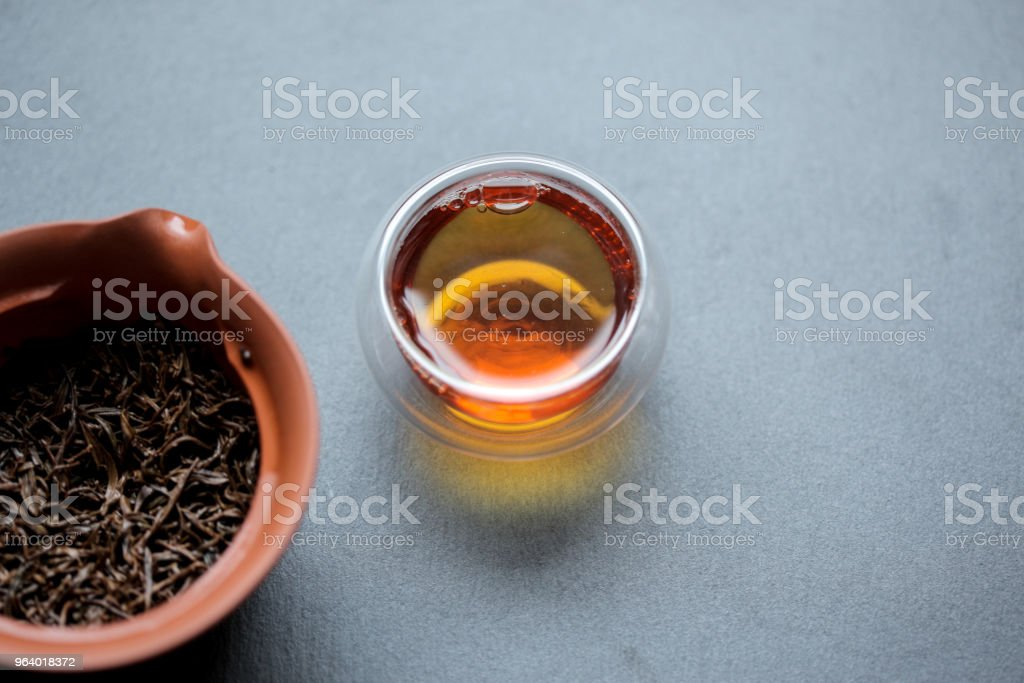Chinese black tea and shiboridashi - Royalty-free Black Tea Stock Photo