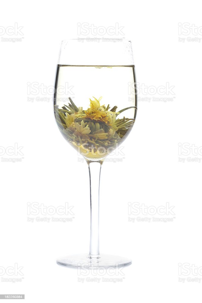Chinese Blooming or Flowering Lotus Flower Tea royalty-free stock photo