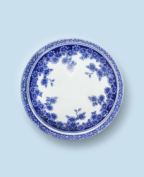 porcelana da china azul e branco placa - porcelana - fotografias e filmes do acervo