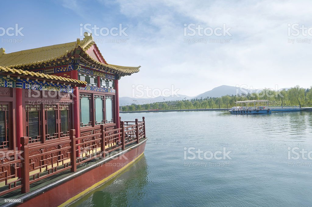 chinese boat royalty-free stock photo