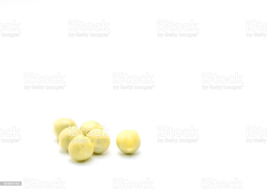 Chinese bolus herbal medicine is coated with yellow wax, isolated on white background stock photo