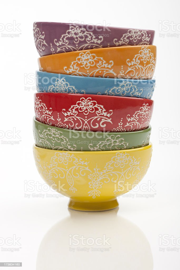 Chinese Bowls royalty-free stock photo