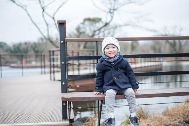 Chinese boy portrait stock photo