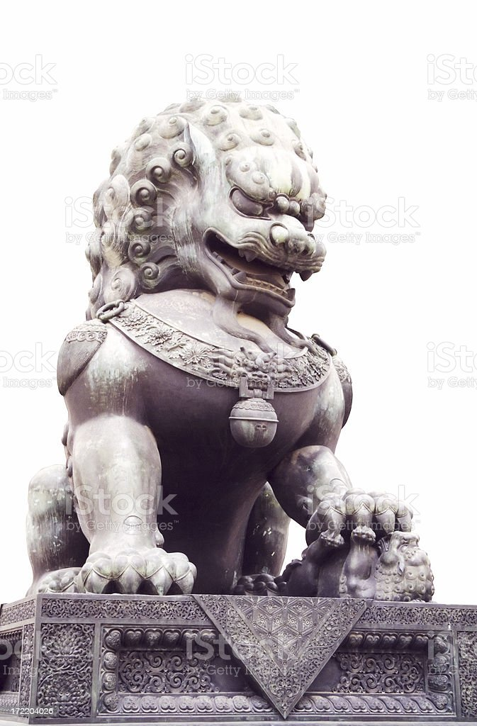 Chinese Brass Lion royalty-free stock photo