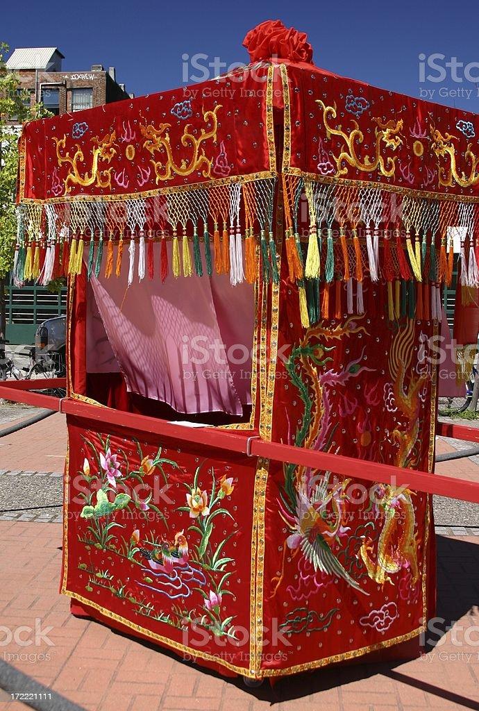 Chinese Bridal Palanquin royalty-free stock photo