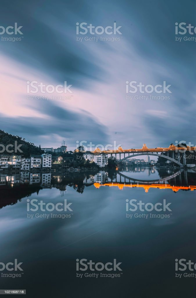 Chinese bridge stock photo