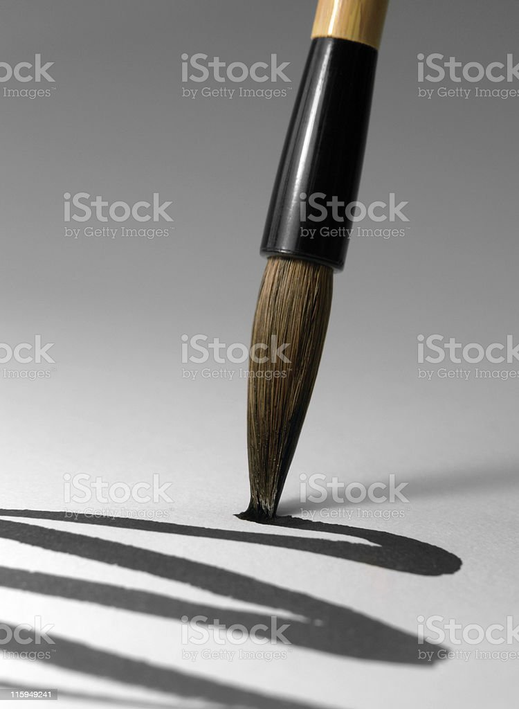 chinese brush tip detail royalty-free stock photo