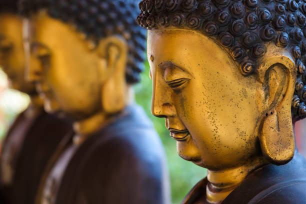Chinese Buddha Statue Closeup Buddha statue in Chinese style taoism stock pictures, royalty-free photos & images
