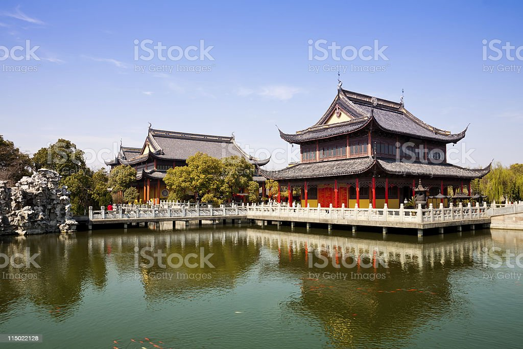 Chinese buddhist temple royalty-free stock photo