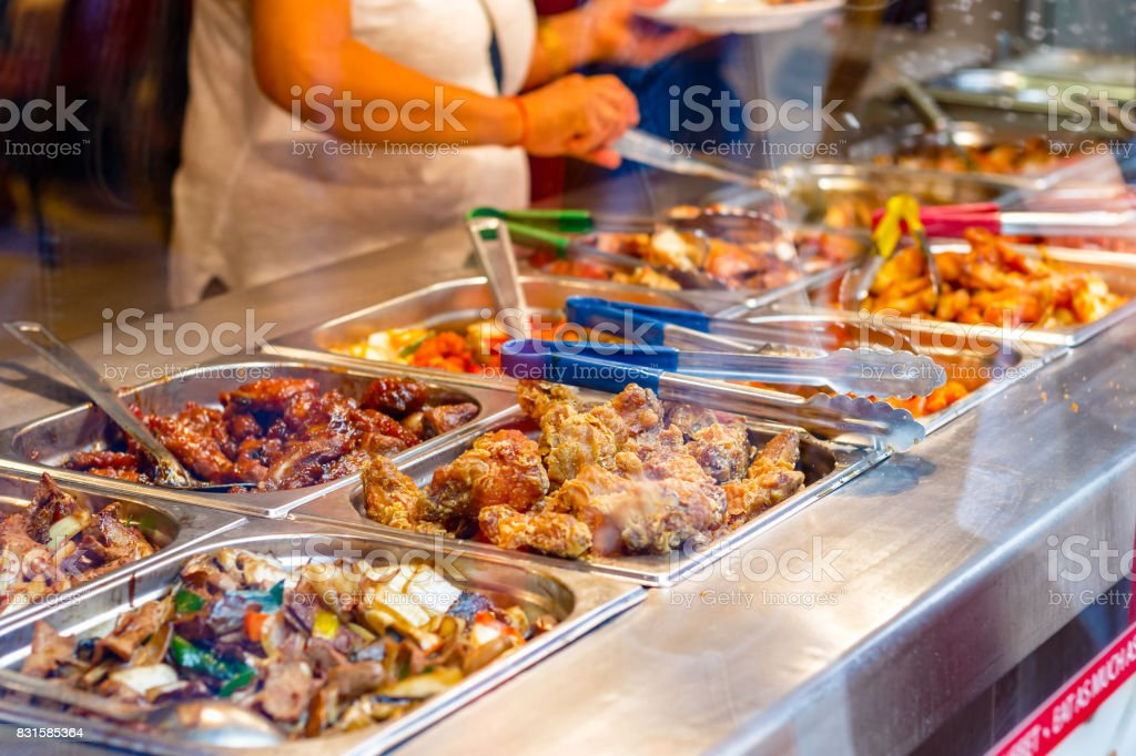 Chinesisches Buffetrestaurant In London Chinatown Stock-Fotografie ...