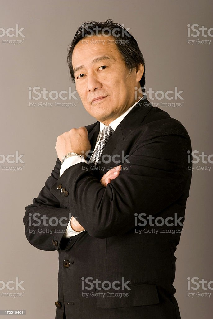 Chinese Business man royalty-free stock photo
