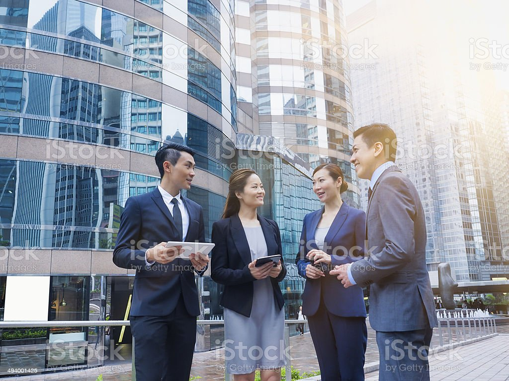 Chinese Business Team stock photo