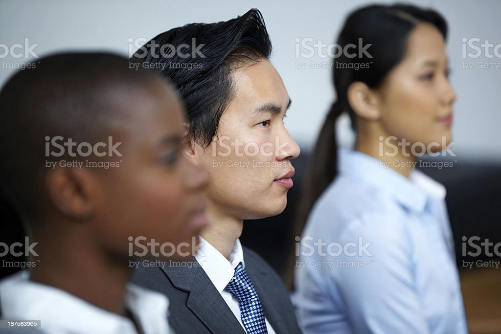 Chinese businessman during business meeting royalty-free stock photo