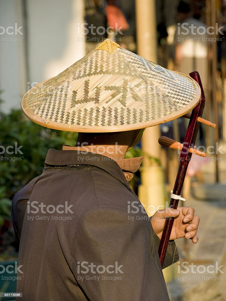 Chinese Busker royalty-free stock photo