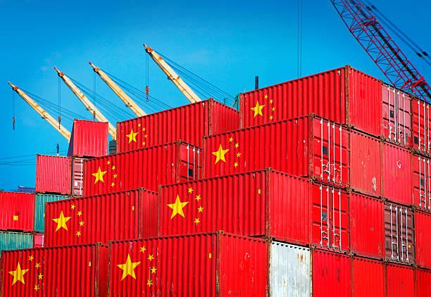 Chinois conteneurs de fret au port - Photo