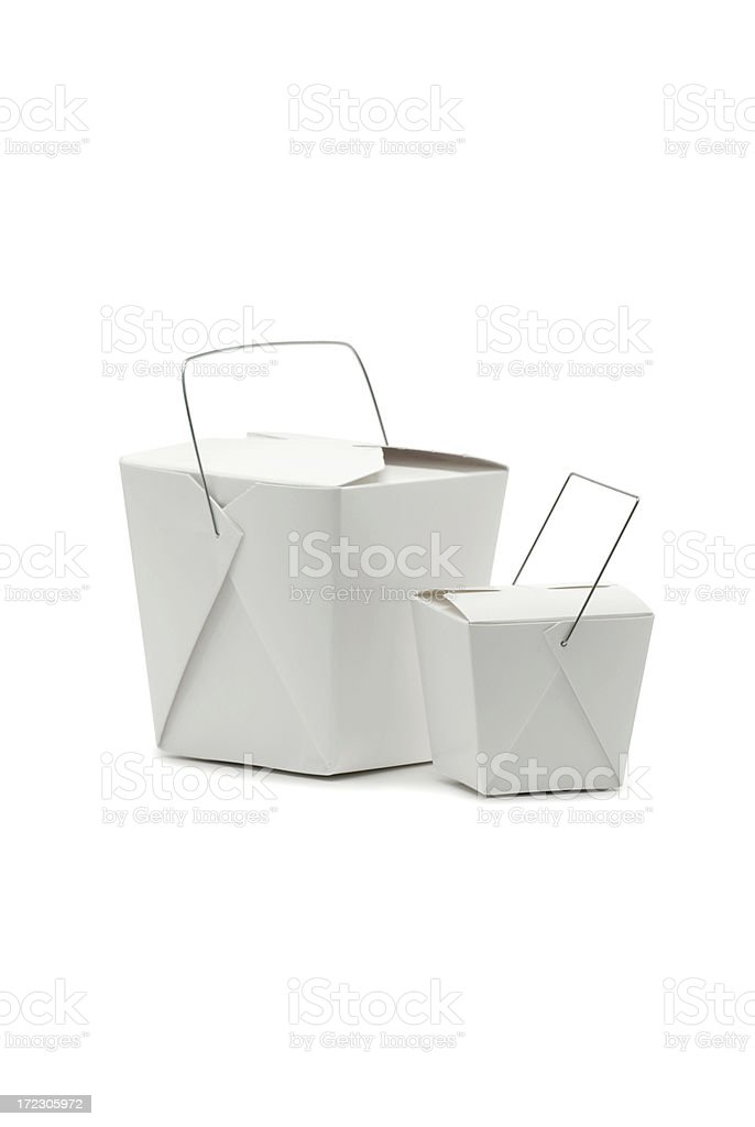 Chinese Carryout Food Containers royalty-free stock photo