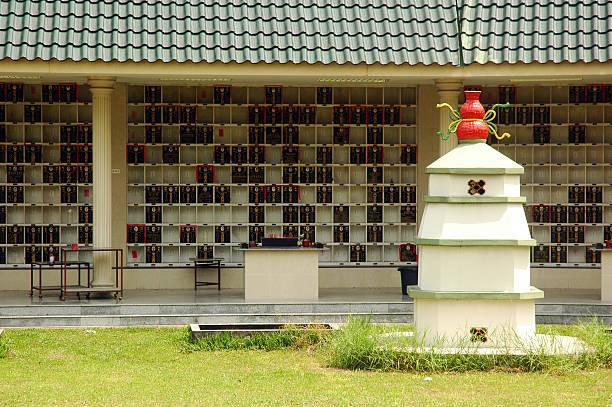 chinese cemetery stock photo