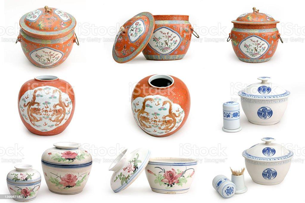 Chinese ceramics royalty-free stock photo
