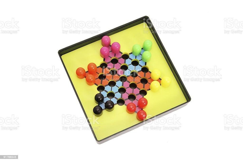 Chinese Checkers royalty-free stock photo