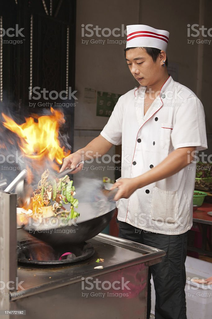 Chinese chef stock photo