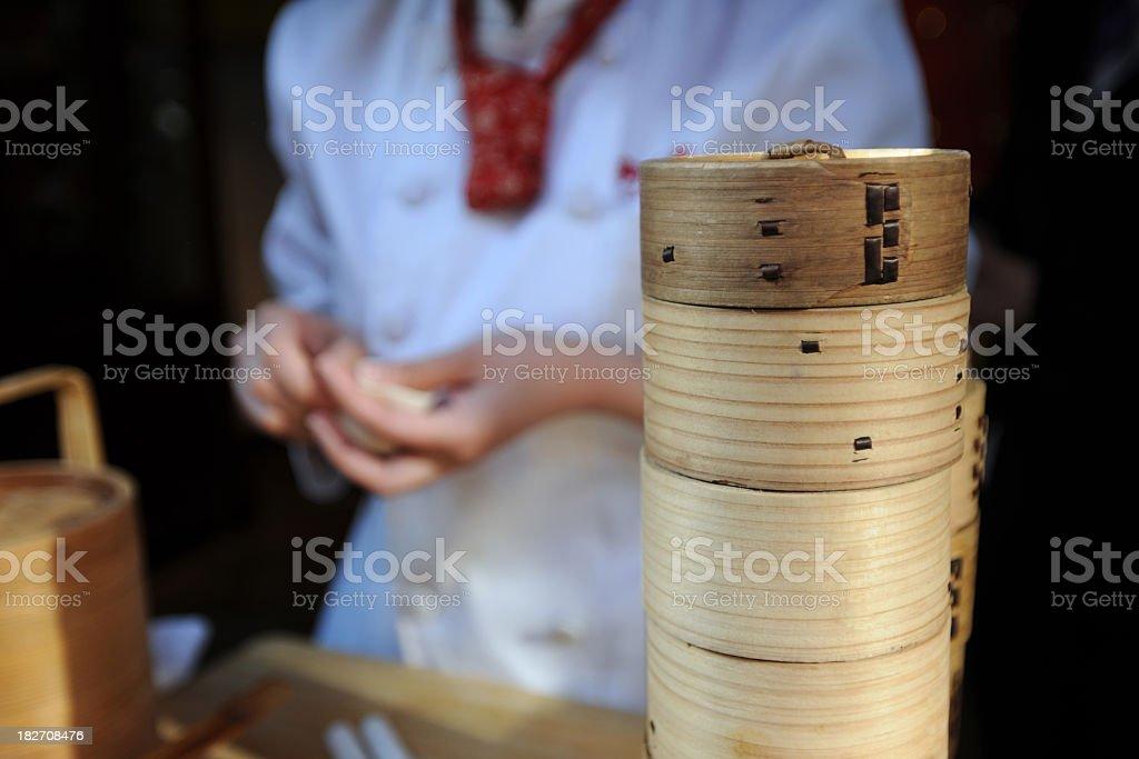 Chinese Chef Preparing Food - XLarge stock photo